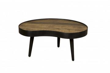 Masuta de cafea cu forma neregulata din lemn si metal 90x80x42m cm maro/negru