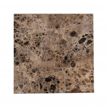 Masuta de cafea patrata din marmura si metal Orion 45x45x45 cm maro