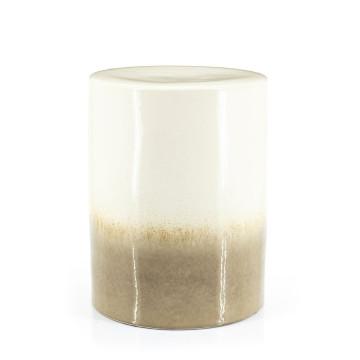 Masuta de cafea rotunda din ceramica Dainty 34x45 cm crem / taupe