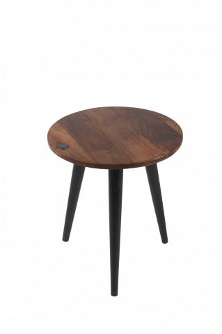 Masuta de cafea rotunda din lemn de mango Tom Tailor 40 x 46 cm