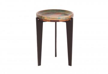 Masuta de cafea rotunda din lemn Fiume 39x59 cm multicolora