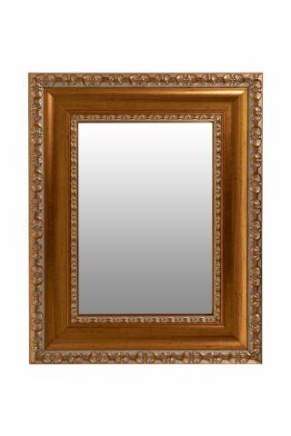 Oglinda dreptunghiulara cu rama din polistiren aurie Sirius, 44,7cm (L) x 35,7cm (L) x 3cm (H)