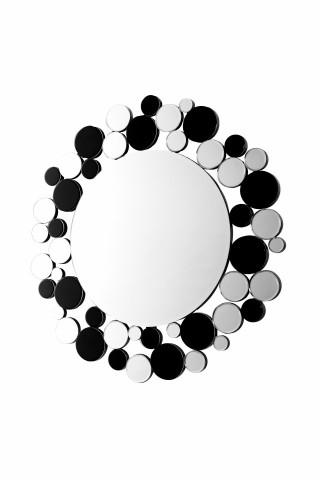 Oglinda rotunda Bubble Argintiu / Negru