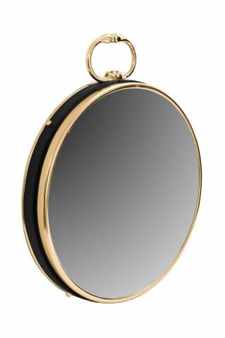 Oglindă rotunda cu rama aurie 5x41x50 cm