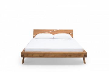 Pat din lemn masiv 198x218x90 cm
