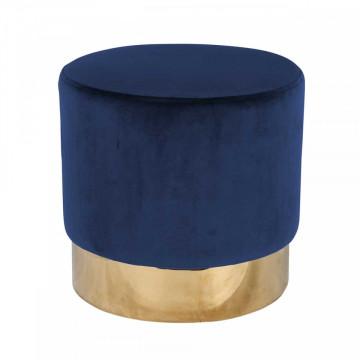 Puf tapitat Lilou albastru