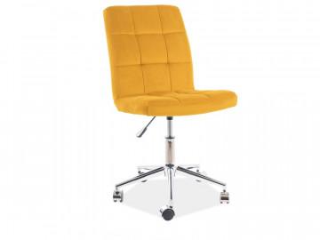 Scaun de birou din catifea Q20 galben