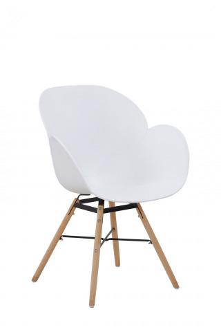 Set 2 scaune Amalia albe