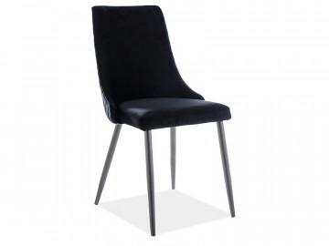 Set 2 scaune din catifea Piano negru mat