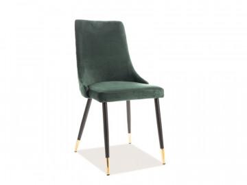 Set 2 scaune din catifea Piano verzi