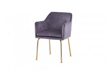 Set 2 scaune din catifea Sit&Chairs Dark Grey