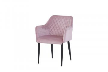 Set 2 scaune din catifea Sit&Chairs roz pal
