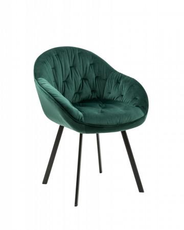 Set 2 scaune tapitate Belle verzi