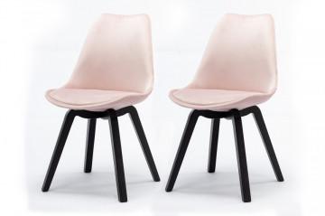 Set 2 scaune tapitate Calypso Rose Retro