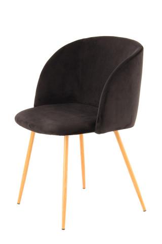 Set 2 scaune tapitate Celina negre