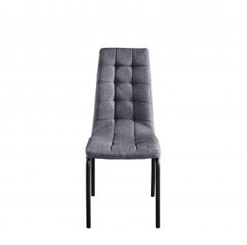Set 2 scaune tapitate gri