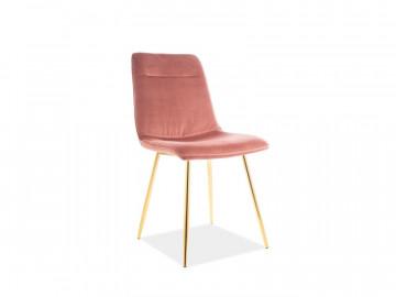 Set 4 scaune din catifea Eros roz