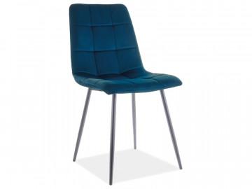 Set 4 scaune din catifea Mila albastru mat