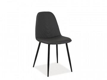 Set 4 scaune din piele ecologica Teo gri