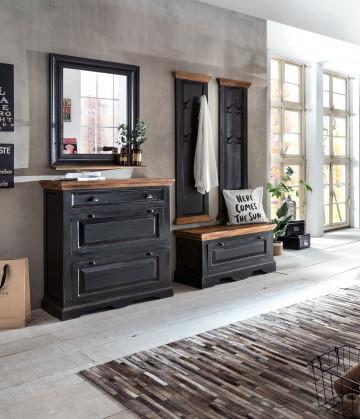 Set 5 piese mobilier pentru hol din lemn de mango/MDF Corsica