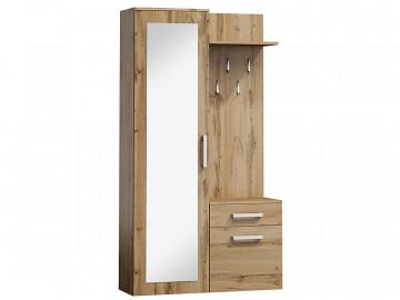Set pentru hol din lemn cu oglinda 180 x 105 x 40 cm maro