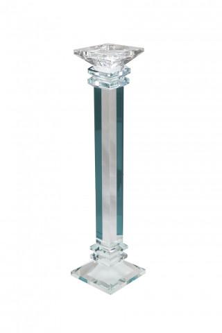 Suport lumanare din sticla de cristal Anthea III, transparent