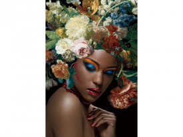 Tablou din sticla Flower Woman I 80 x 120
