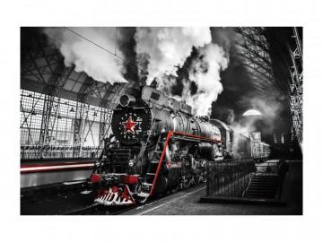 Tablou din sticla Locomotive 120 x 80 cm