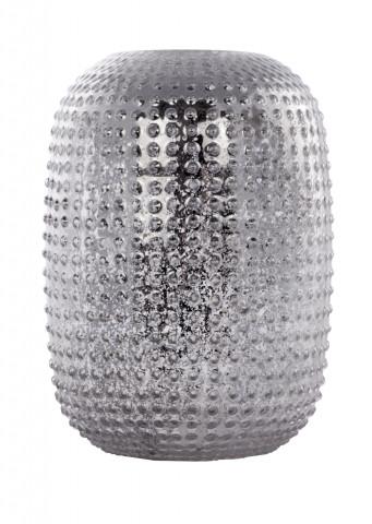 Vaza din sticlă Agave, argintie
