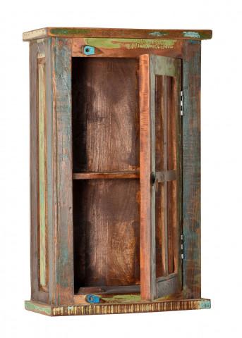 Vitrina din lemn reciclat Riverboat, multicolor, 72 cm