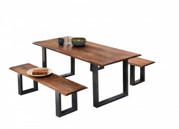 Bancheta Tables & Benches din lemn de salcâm cu bazā negru antic