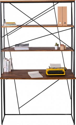Biblioteca din mango si cadru metalic Tom Tailor 120x202 cm