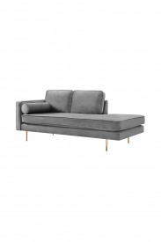 Canapea Estelle gri, 3 locuri, pe stanga