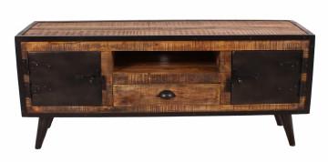 Comoda TV din lemn de mango Iron 140 x 40 x 55 cm