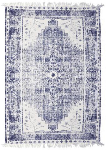 Covor bumbac si poliester Cana 160x230 cm - albastru