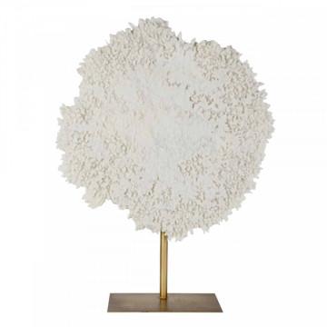 Decoratiune coral din metal Ayla, alb