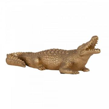 Decoratiune crocodil, gold