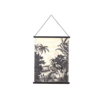 Decoratiune de perete din bambus Miyagi jungle small
