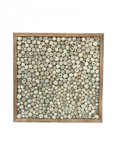Decoratiune de perete din lemn de tec natural ROMANTEAKA