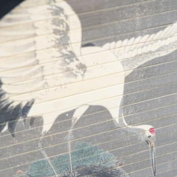 Decoratiune de perete rotunda Morita crane