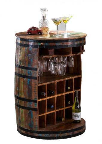Dulapior pentru vin in forma de butoi RIVERBOAT, depozitare pentru 15 sticle