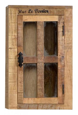 Etajera din lemn de mango Rustic, maro, 70 cm