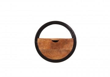 Etajera din lemn de mango si metal Sidney 20 x 30 cm