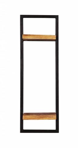 Etajera din lemn de mango si metal Sidney 25 x 75 cm