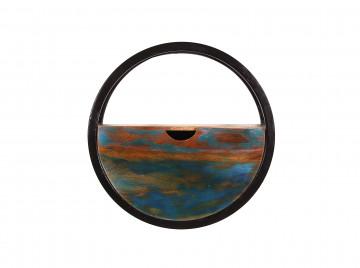 Etajera rotunda din lemn reciclat Rverboat 20 x 40 cm