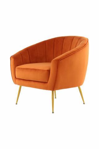 Fotoliu tapițat Doreen portocaliu
