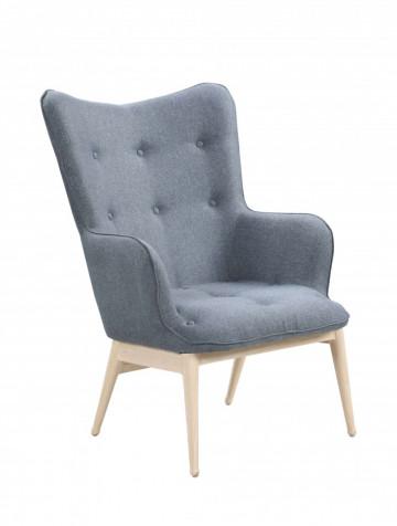 Fotoliu tapițat Sit&Chairs gri închis