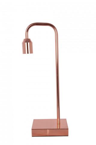 Lampa decoartiva din fier Galileo cupru roz, un bec