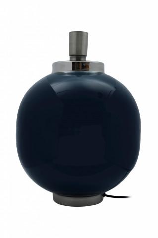 Lampa decorativa din fier, albastru inchis/argintiu, un bec 28x28x38,5 cm