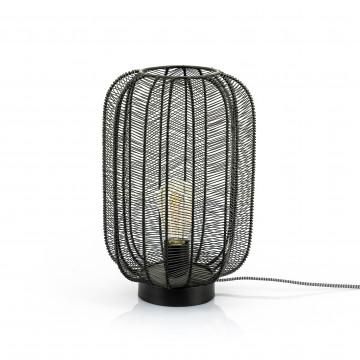 Lampa decorativa din fier Carbo negru, un bec
